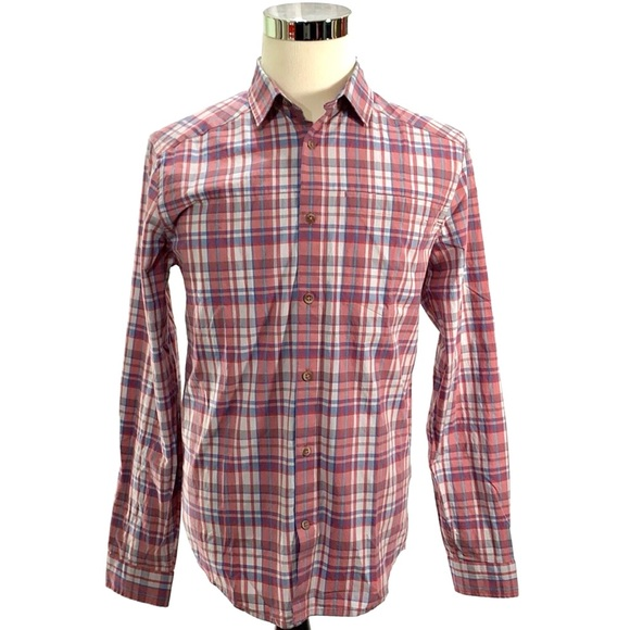 010bd01582 Under Armour Men's Plaid Button-Down Shirt NWT